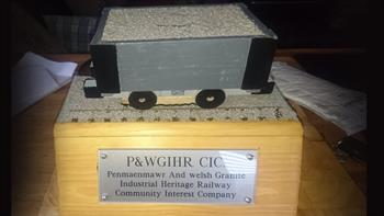 Money boxes - Built by us at PWGIHR to collect donations from the public, you may see them around the shops